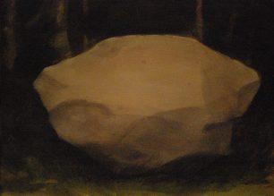 Ensam sten, 73x53